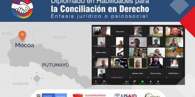 Inició en Putumayo, el diplomado en Habilidades para la Conciliación en Derecho