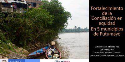 Fortalecimiento de la Conciliación en Equidad en 5 municipios de Putumayo