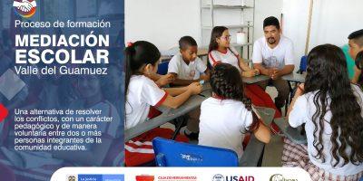 Con amplia participación y expectativa inició en Valle del Guamuez el proceso de formación en Mediación Escolar