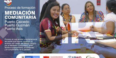 Arrancó formación de líderes en Mediación Comunitaria en tres municipios del Putumayo